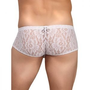 Male Power Stretch Lace Boxer Shorts
