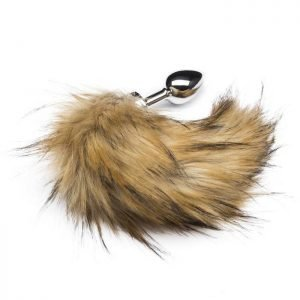 DOMINIX Deluxe Stainless Steel Medium Faux Fox Tail Butt Plug