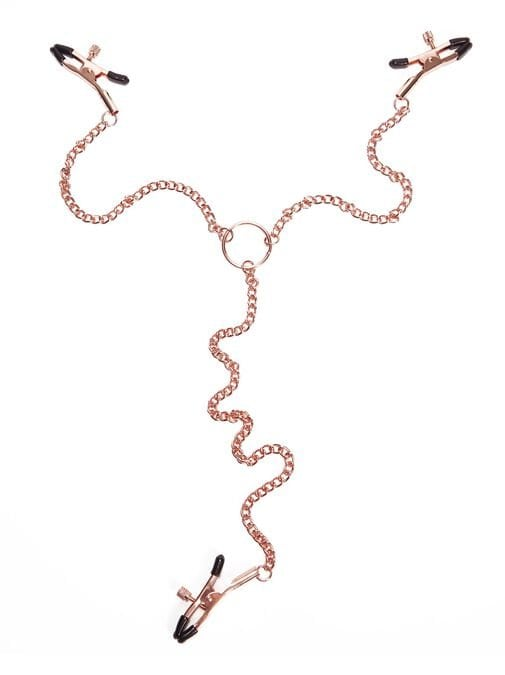 rose gold nipple and clit chain ann summers